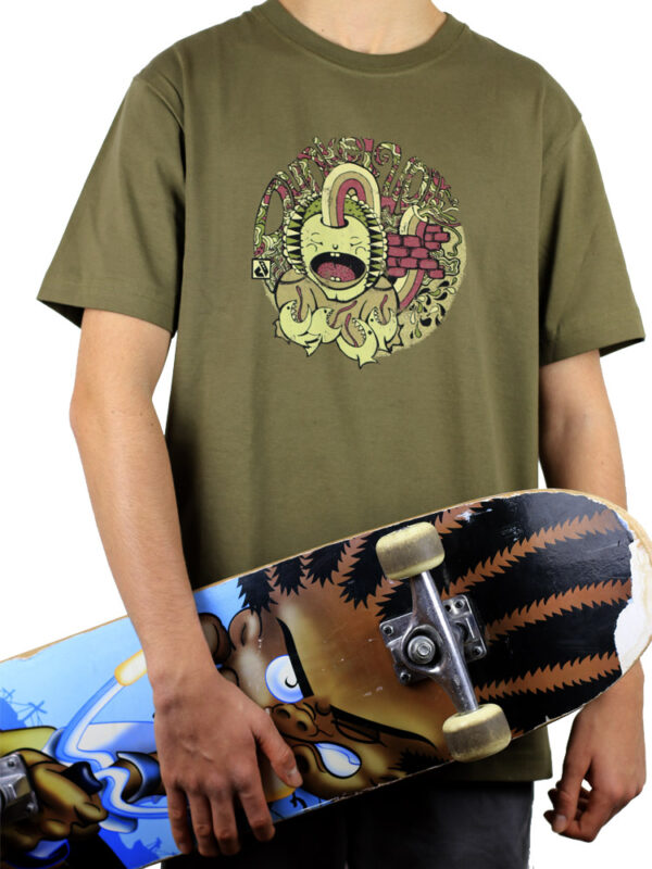 T-Shirts-Brainforce-Olive-Small-front